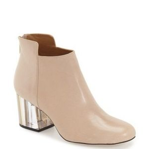 Calvin Klein nude leather booties
